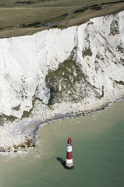 Beachy Head aerial image - Sussex lighthouse