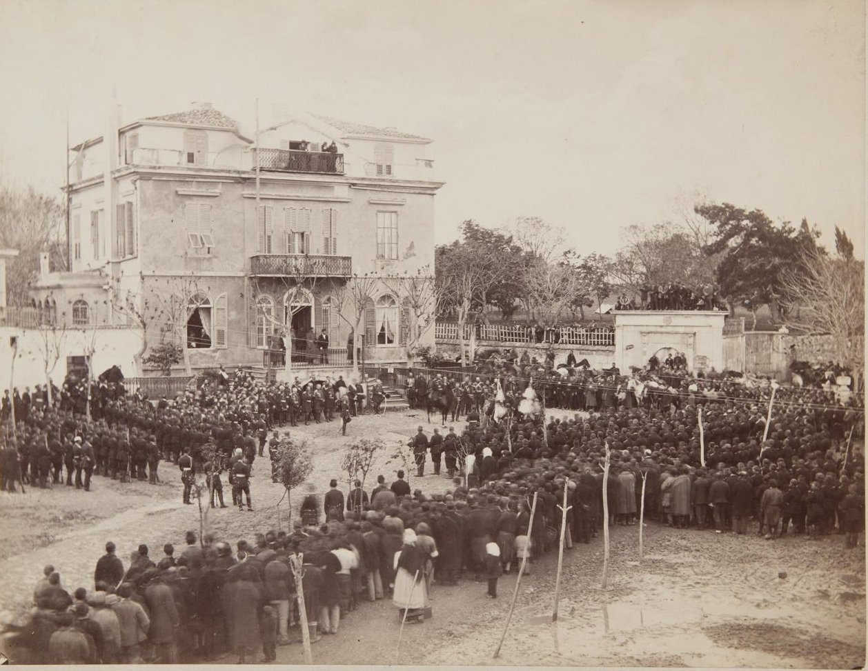 Группа 19 февраля 1879, снята в Турции, близ Константинополя в день заключения мира с Турцией