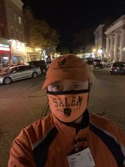 Ryan Janek Wolowski exploring Main Street Northport Long Island NY 11768 USA Halloween Eve October 30th 2020