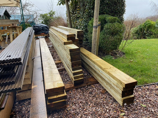 Softwood for the roof