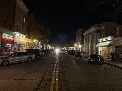 Main Street Northport Long Island NY 11768 USA Halloween Eve October 30th 2020