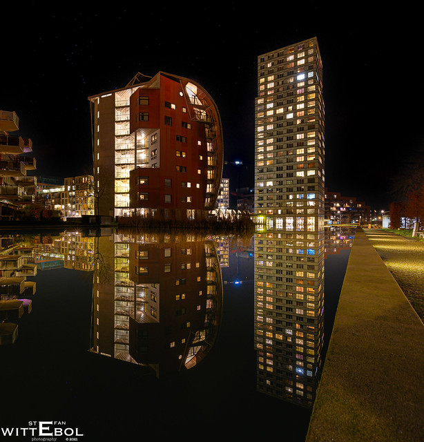 Reflected cityscape