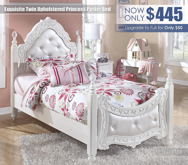 Exquisite Twin Poster Bed_B188-71-83-SD