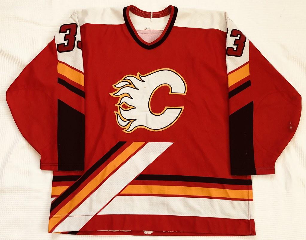 1996-97 Zarley Zalapski Calgary Flames Away Set 2 Game Used Jersey Front