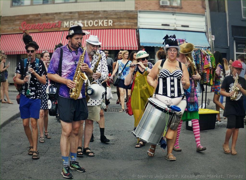The Carnival  Brass Band. Music in Kensington Market.