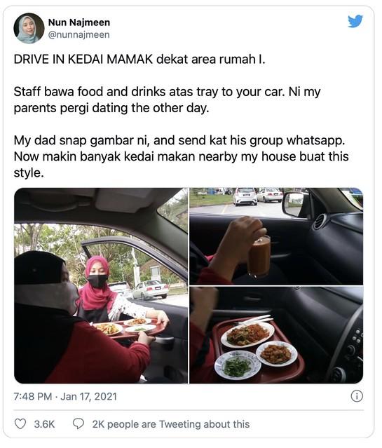 Tak Dibenarkan Duduk di Restoran, Ramai Pakat 'order' Makan Dalam Kereta