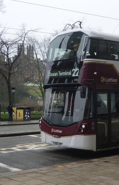 Lothian 448 on Princes Street, Edinburgh.