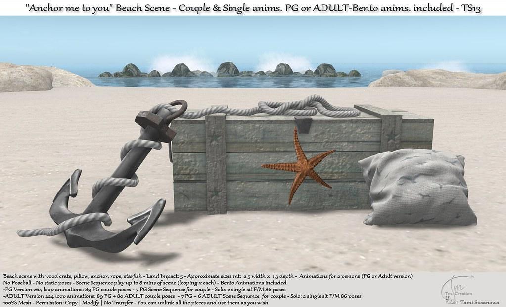 ".:Tm:.Creation ""Anchor me to you"" Beach Scene TS13"