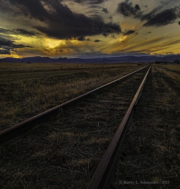 Sunset Along The Railroad