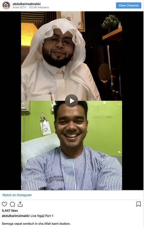 Dulu Doakan Alif Satar Sembuh, Kini Sheikh Abdul Karim Al-Makki Pula Positif Covid-19
