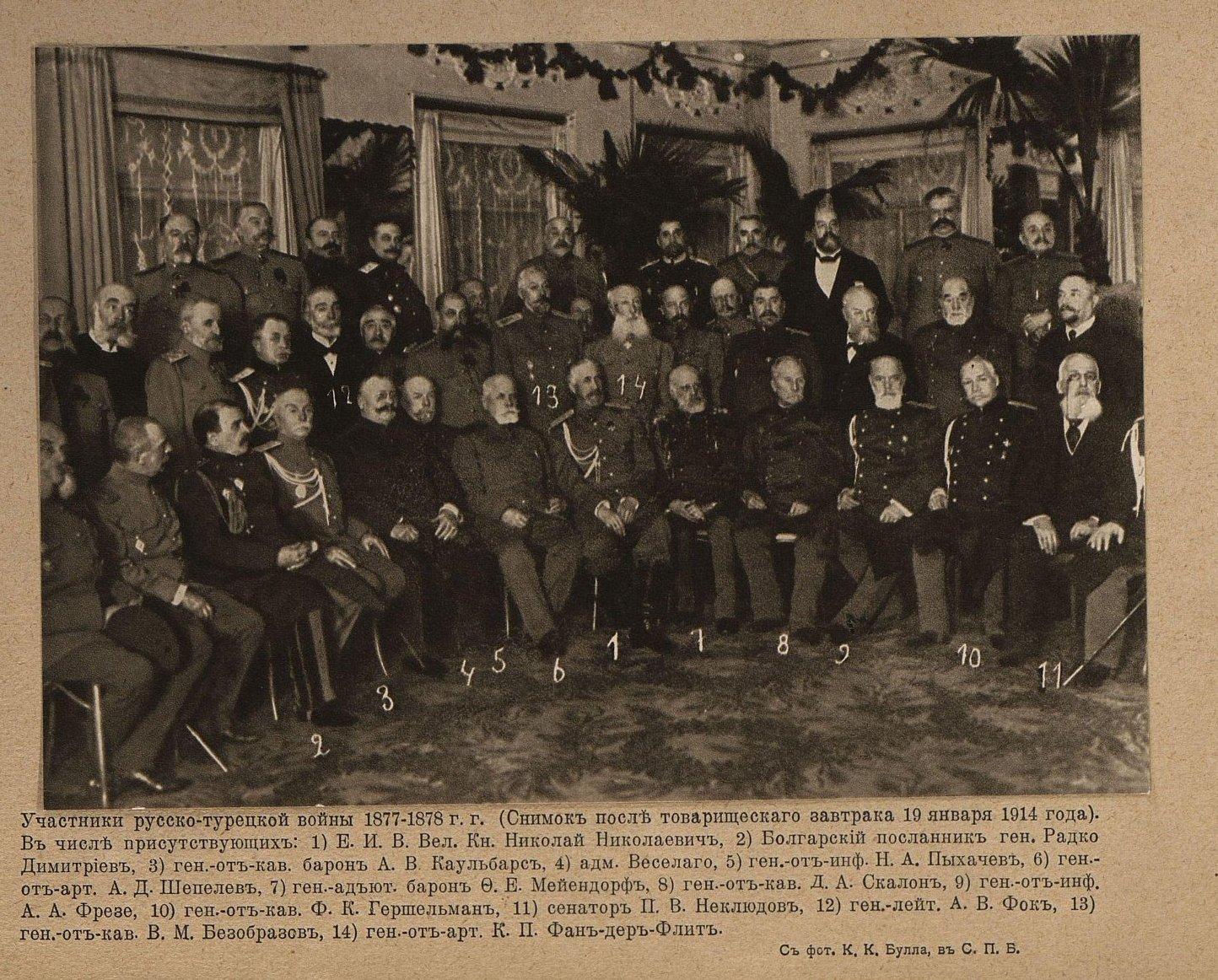 1914. Участники Русско-Турецкой войны