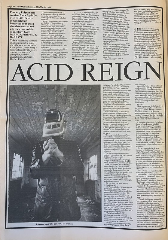 NME, 12 March 1988. #NME  #MyLifeInTheUKMusicPress #1988