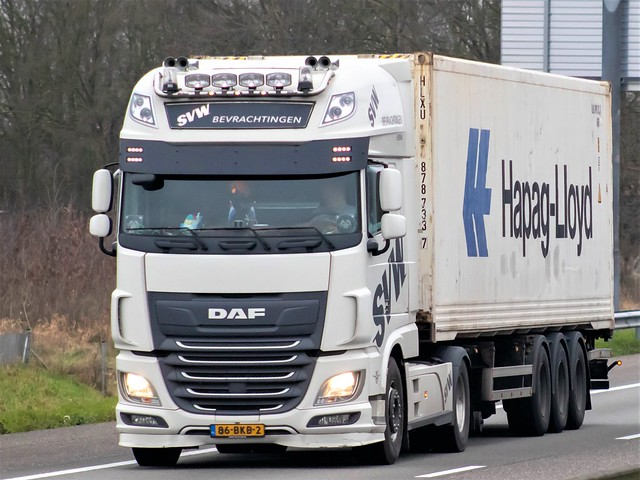 DAF XF116 superspacecab, from SVW bevrachtingen, Holland.