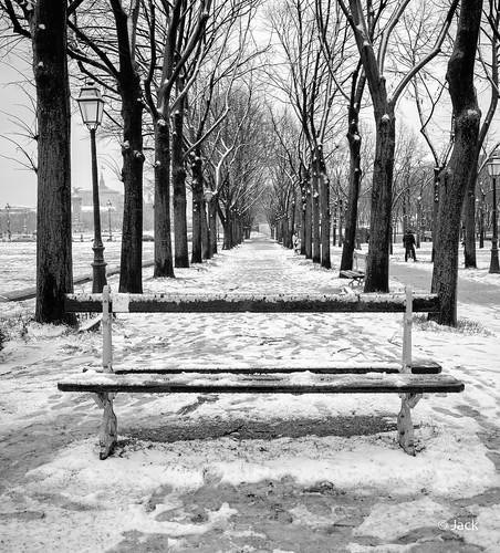 Neige sur les Invalides