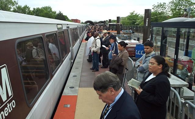 Takoma platform following train offloading