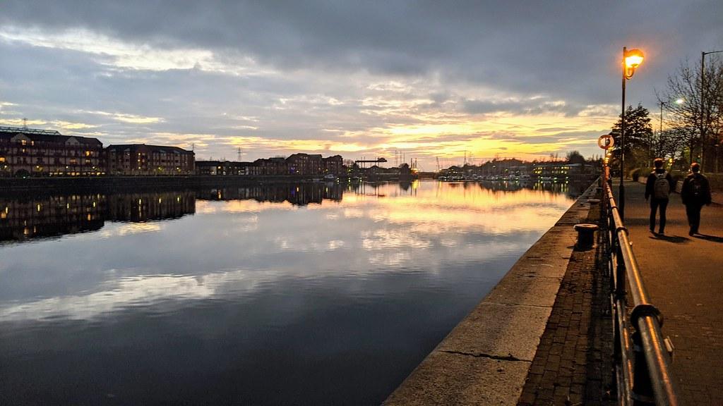 Just after sunset at Preston Docks