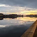 Just after sunset at Preston Docks