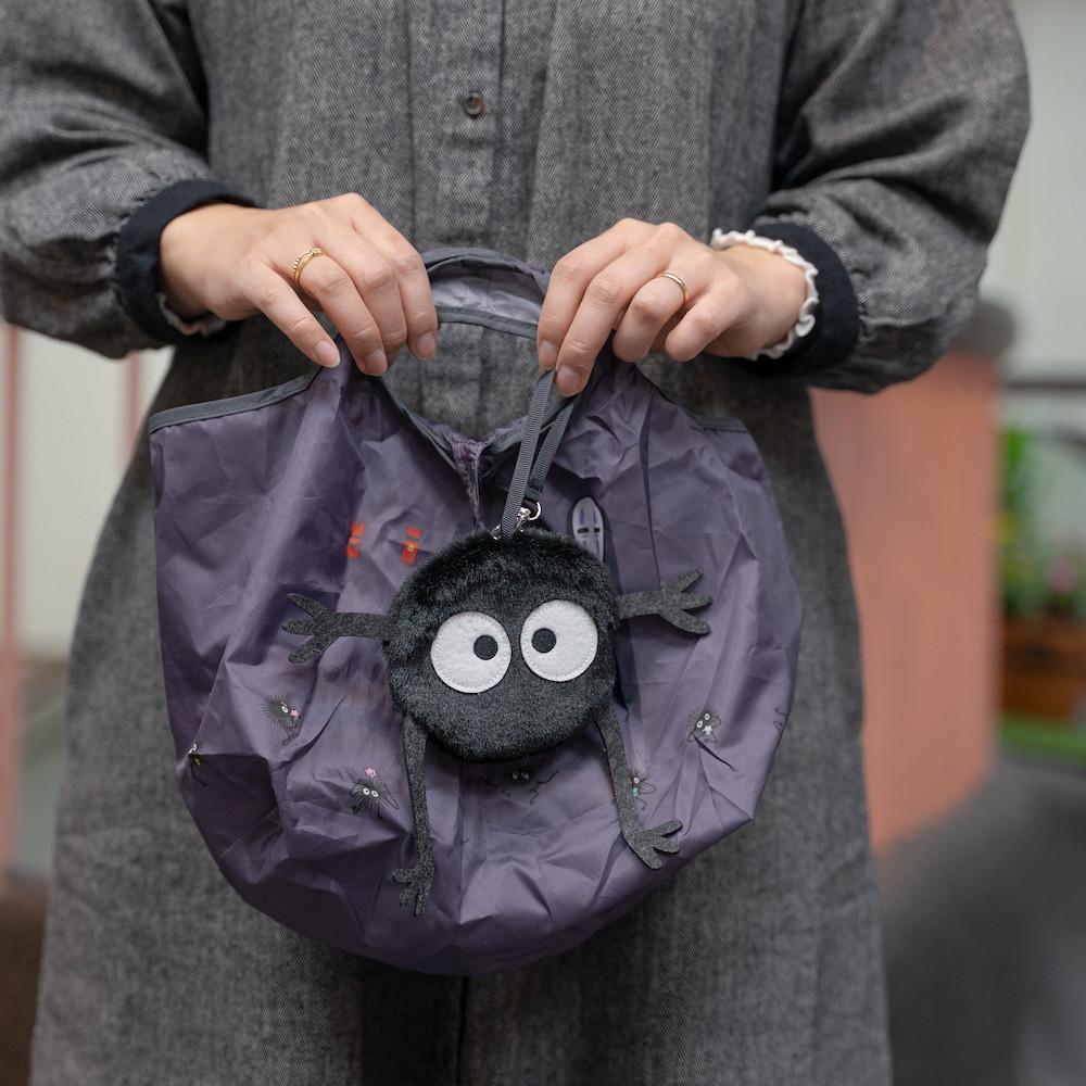 橡子共和國《神隱少女》無臉男/煤炭精靈 絨毛布偶收納環保袋 可愛與實用兼具~