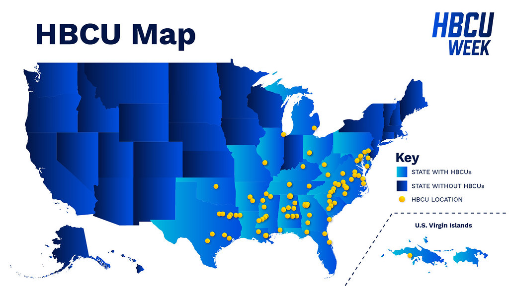 Map of HBCUs in the US