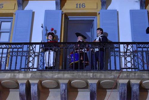 San Sebastian egunaren hasiera Konstituzio plazan