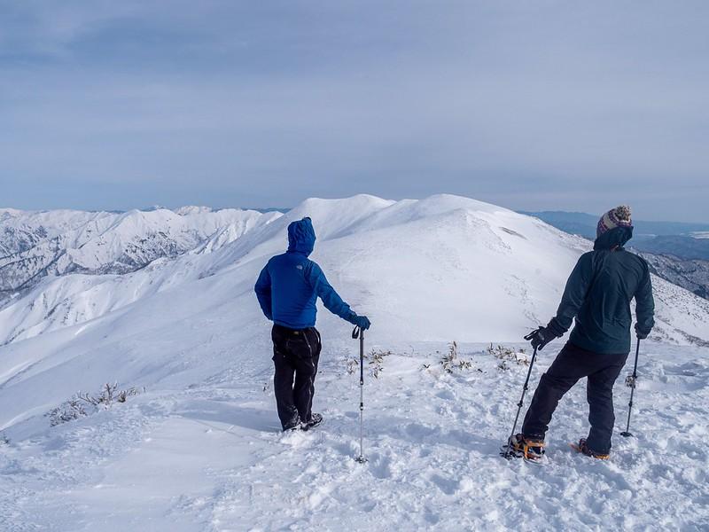 冬の平標山の集合写真