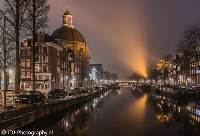 Foggy spotlights