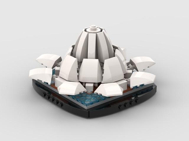 Lego Mini The Lotus Temple, located in New Delhi