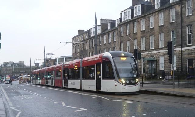Tram 260 at York Place terminus, Edinburgh.