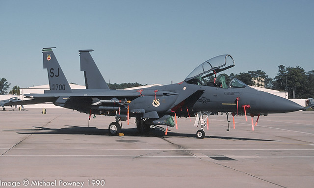88-1700 - 1988 fiscal McDonnell Douglas F-15E Strike Eagle, at Seymour-Johnson AFB during the 1990 Community Appreciation Day