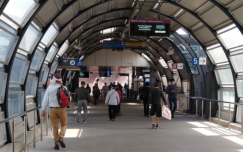 Footscray station bridge to platforms