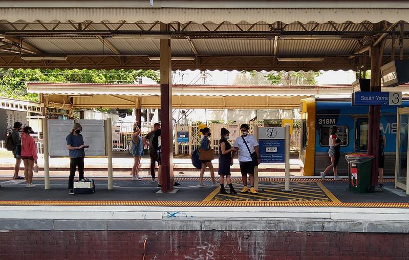 Train arriving South Yarra