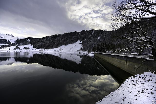 Wägitalersee with reflection - Innerthal - Schwyz - Switzerland