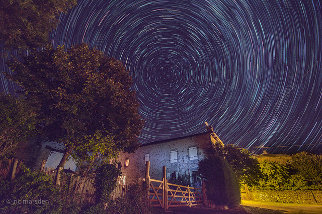 Star Trail in Rural France