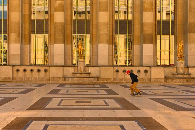 Paris Trocadero skateboarder
