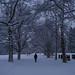 CH ZH Snow in the City. Friedhof Sihlfeld
