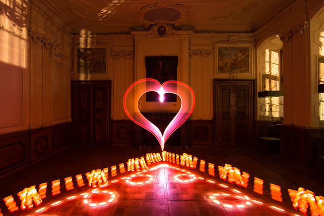 Lightpainting Light Art Performance Photography Museum im Schloss Bad Pyrmont