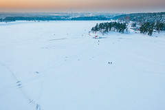 Walking on ice | Kaunas aerial