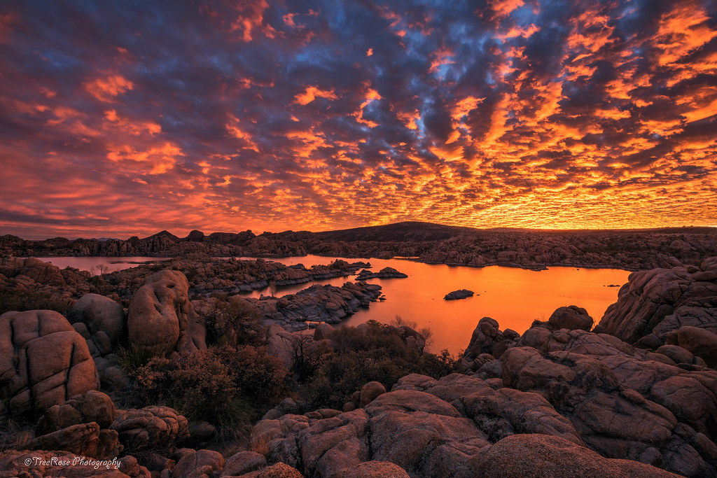 Fiery Sunrise at Watson Lake