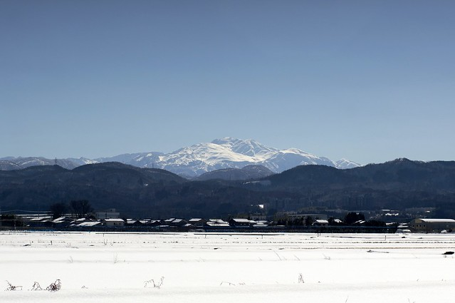大寒の白山連峰