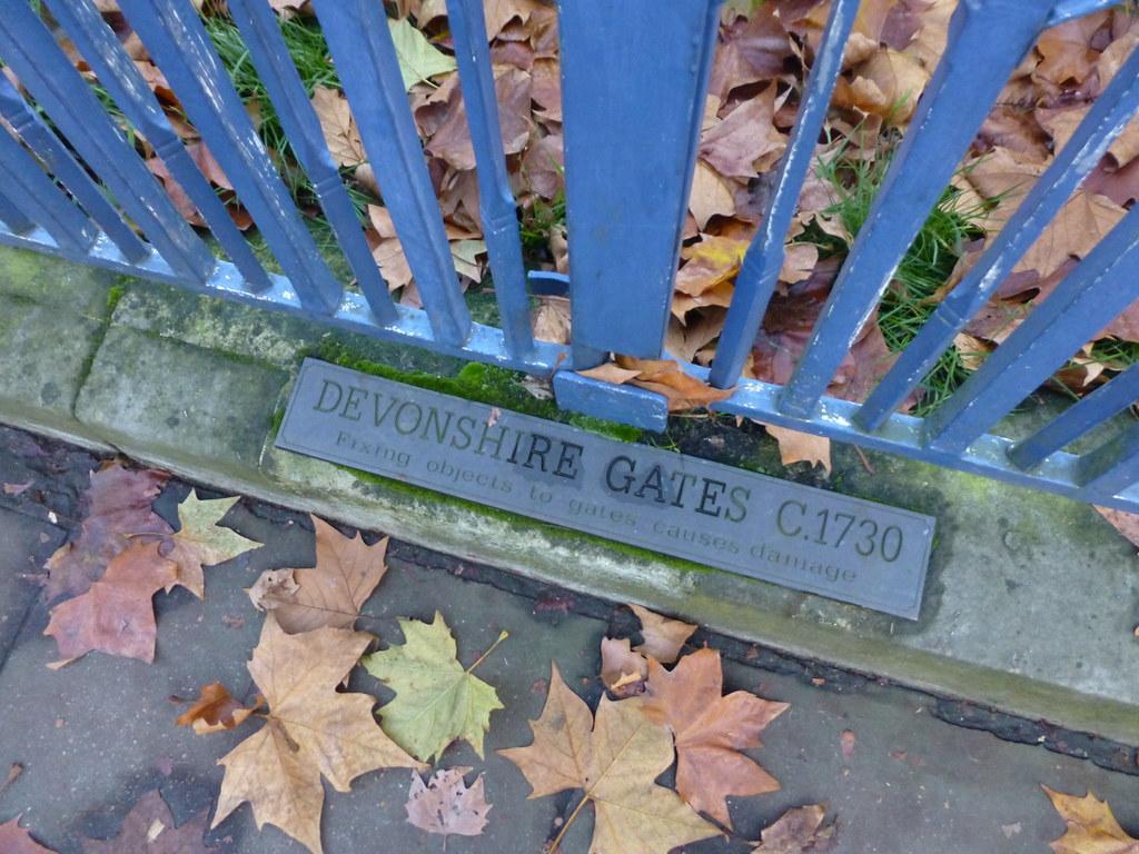 The Devonshire House Gates Piccadlly London (November 2014) (The Polite Tourist)