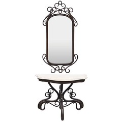 Bentwood-Style Mirror and Console Table
