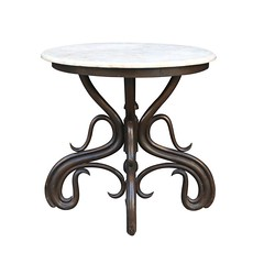 Marble-Topped Bentwood Table