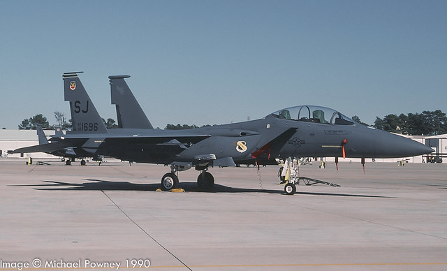 88-1696 - 1988 fiscal McDonnell Douglas F-15E Strike Eagle, at Seymour-Johnson AFB during the 1990 Community Appreciation Day