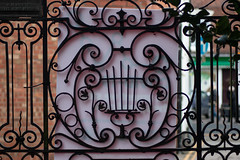 Church wrought iron gate Mendham