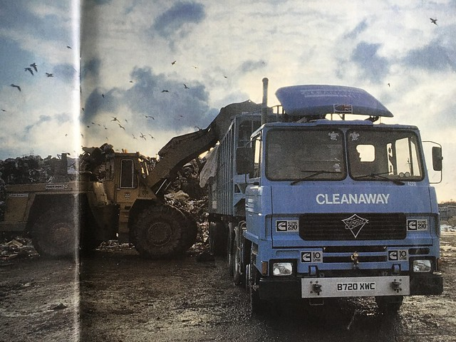 Foden I drove ,in 1985 magazine ,me being loaded by a big old GLC -Hanomag loading shovel ,the strip,Edmonton .