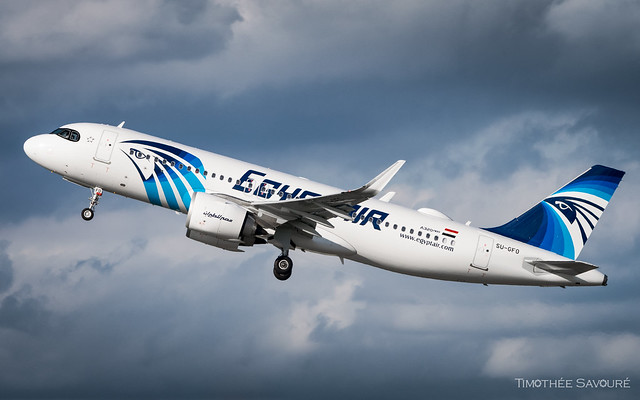 CDG   Egyptair Airbus A320neo   SU-GFO