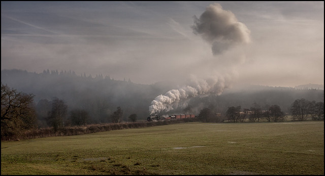 Churnet Valley Railway in the mist.......  (Reprocessed)