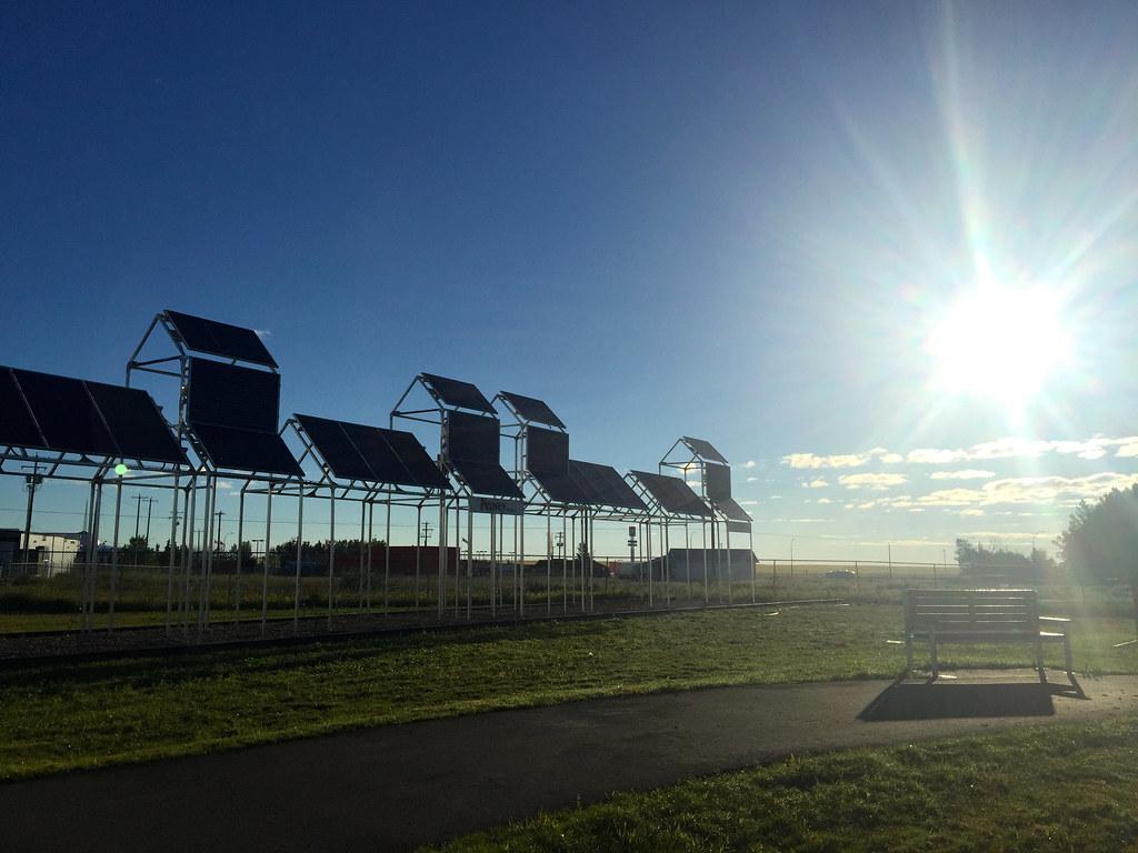 Solar tribute in a prairie town