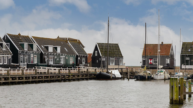 Small fishing village on the former island of Marken