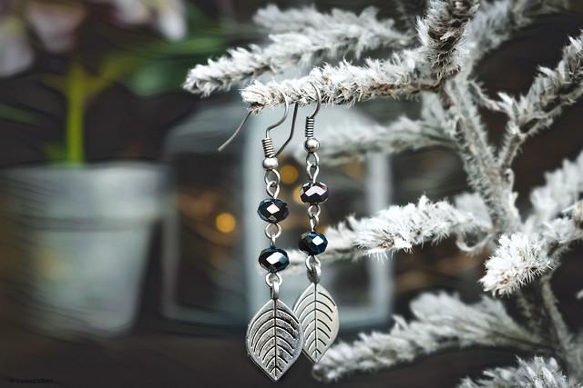 Leaves Silver Earrings